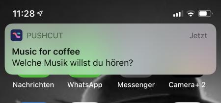 Pushcut:Mitteilung